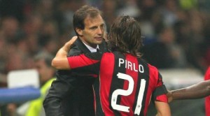 Allegri with Pirlo