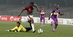Debnath in action against Mohun Bagan.