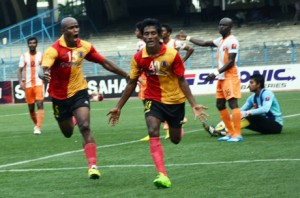 Prohlad Roy scored three goals in the Kolkata League.