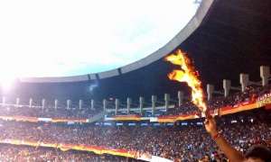East Bengal Stand after CFL Victory -c - random Phone camera