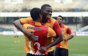 Ranti Martins after scoring his second-c-Kingfisher east bengal fanpage fb