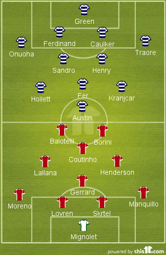 QPR v Liverpool FC - Team News, Tactics, Line-ups & Prediction