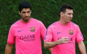 Suarez is expected to partner Lionel Messi for the first time at the bernabeu