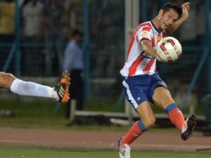 Luis Garcia in action for Atletico de Kolkata