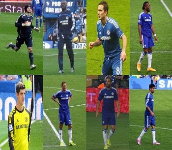 Chelsea FC: Then and Now (Source: Various Wikipedia)