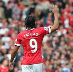 Falcao had a good game as United win 3-1 against Newcastle United