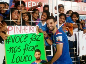 FC Goa's Bruno with his fan following