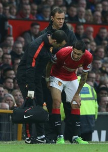 Di Maria was the latest entrant to United's burgeoning injury list