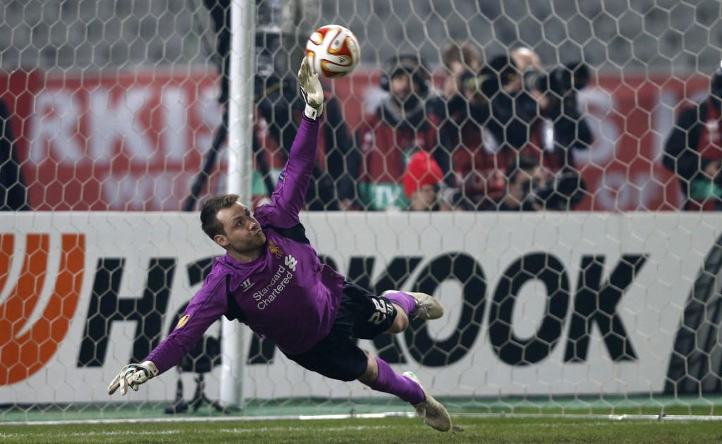 Simon Mignolet is in contention for this season`s Golden Glove award and leads the way with14 clean sheets
