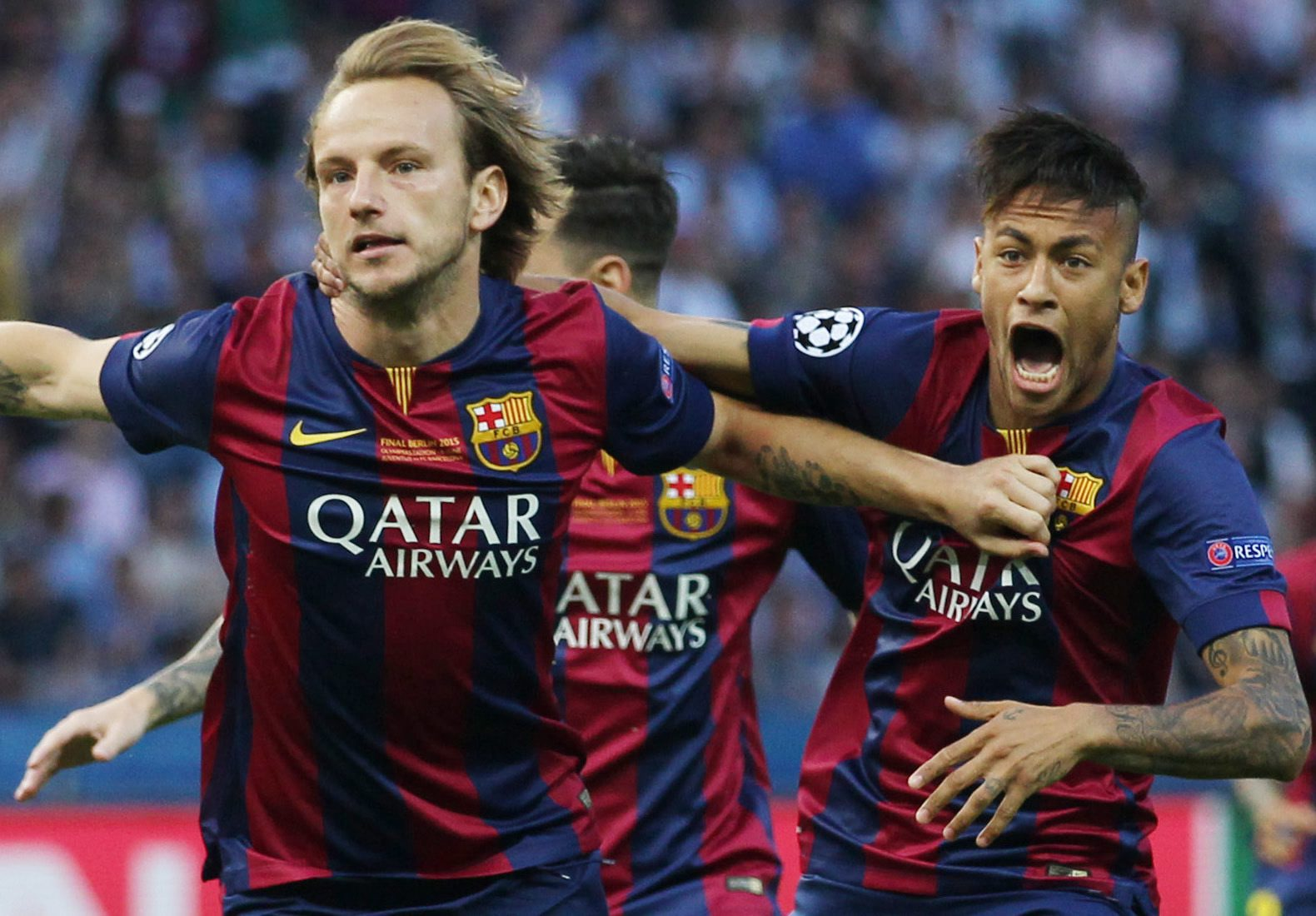 Ivan Rakitic opened the scoring for Barcelona in the 4th minute