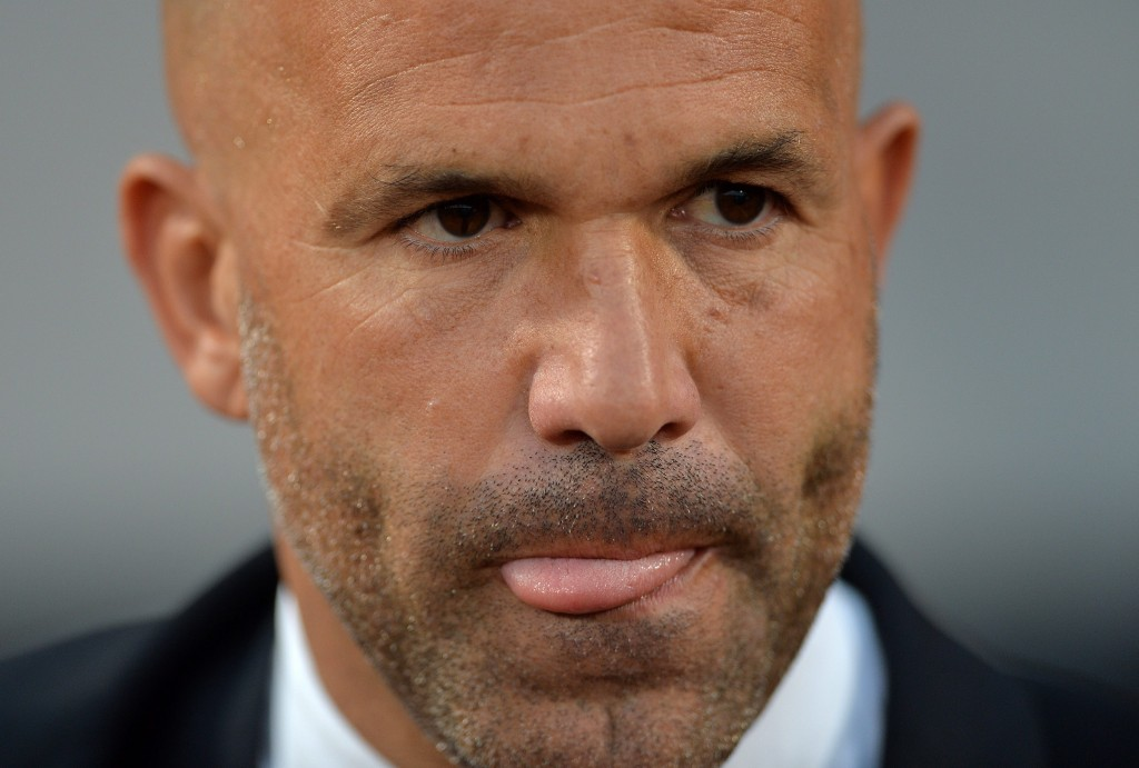 epa04817241 Luigi Di Biagio, head coach of Italy, reacts during UEFA European Under-21 Championship match between England and Italy at the Ander Stadium, Olomouc, Czech Republic, 24 June 2015. EPA/PETER POWELL .