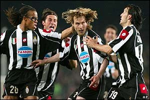 Nedved scores the crucial away goal