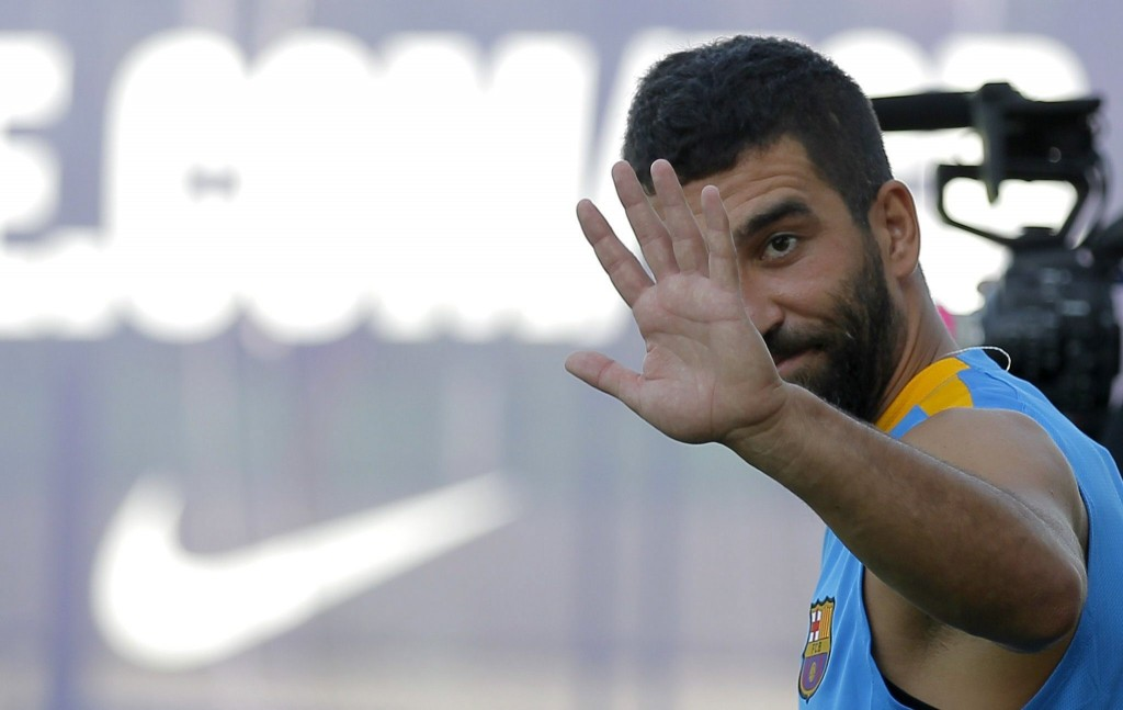 Arda Turan may be saying his goodbyes to the Camp Nou after only a season with the club as Barcelona look to balance their books. (Picture Courtesy - AFP/Getty Images)