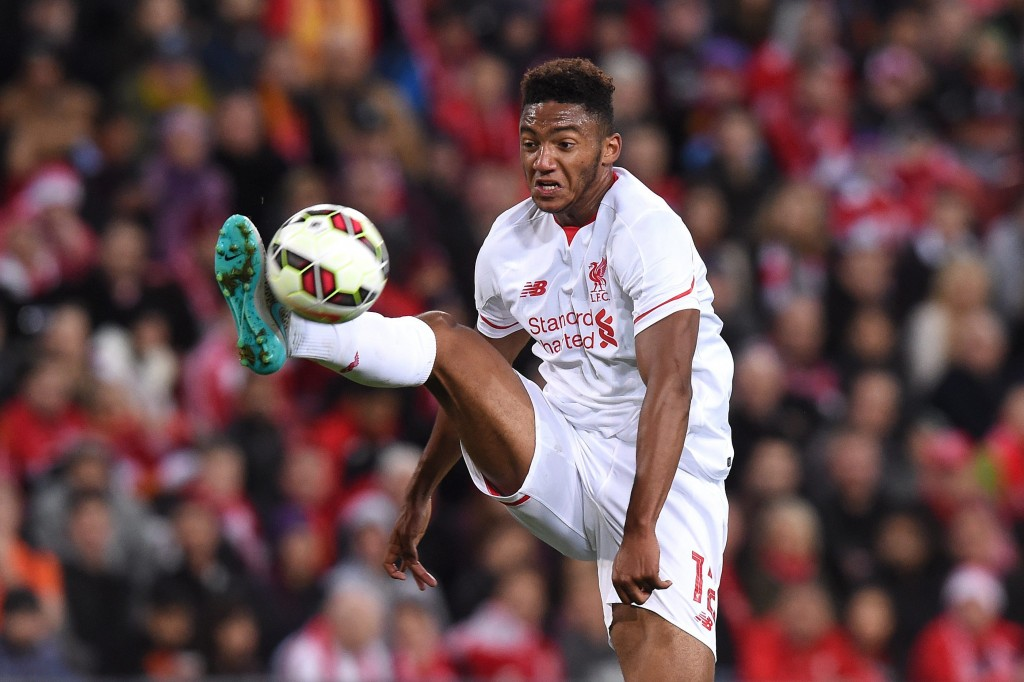 epa04850180 Liverpool player Joe Gomez during the friendly soccer match between Brisbane Roar and Liverpool FC at Suncorp Stadium in Brisbane, Australia, 17 July 2015. EPA/DAVE HUNT **AUSTRALIA AND NEW ZEALAND OUT**