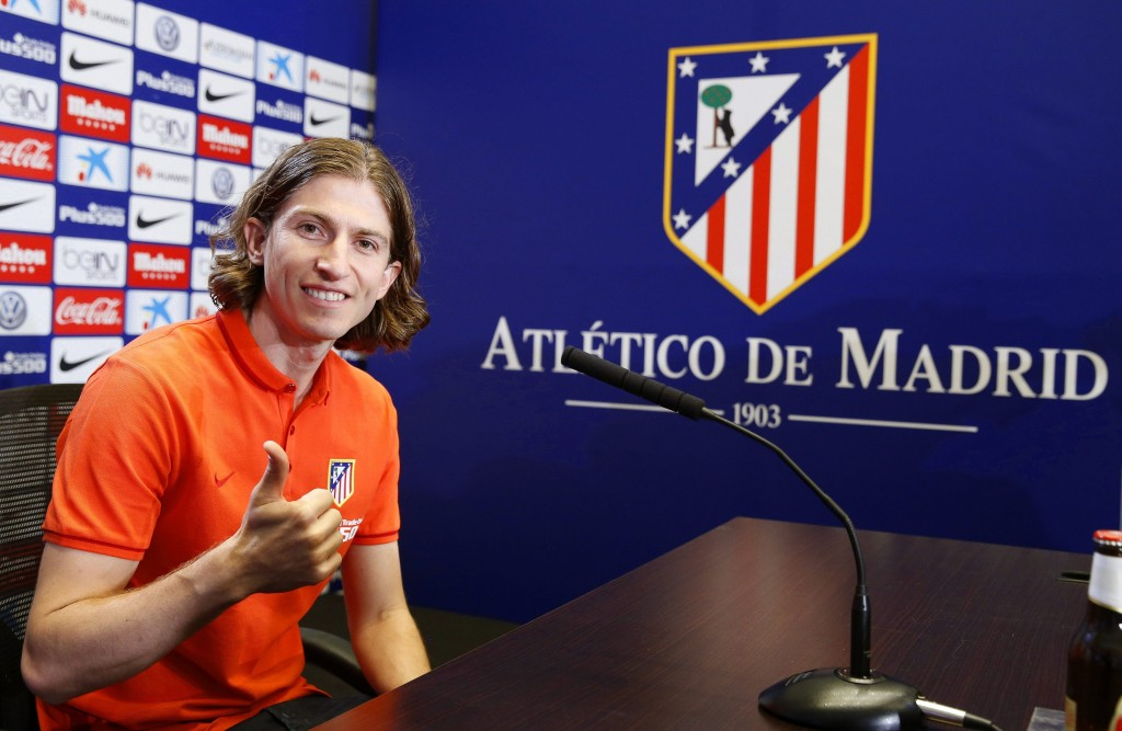 Atletico Madrid's new Brazilian defender Filipe Luis