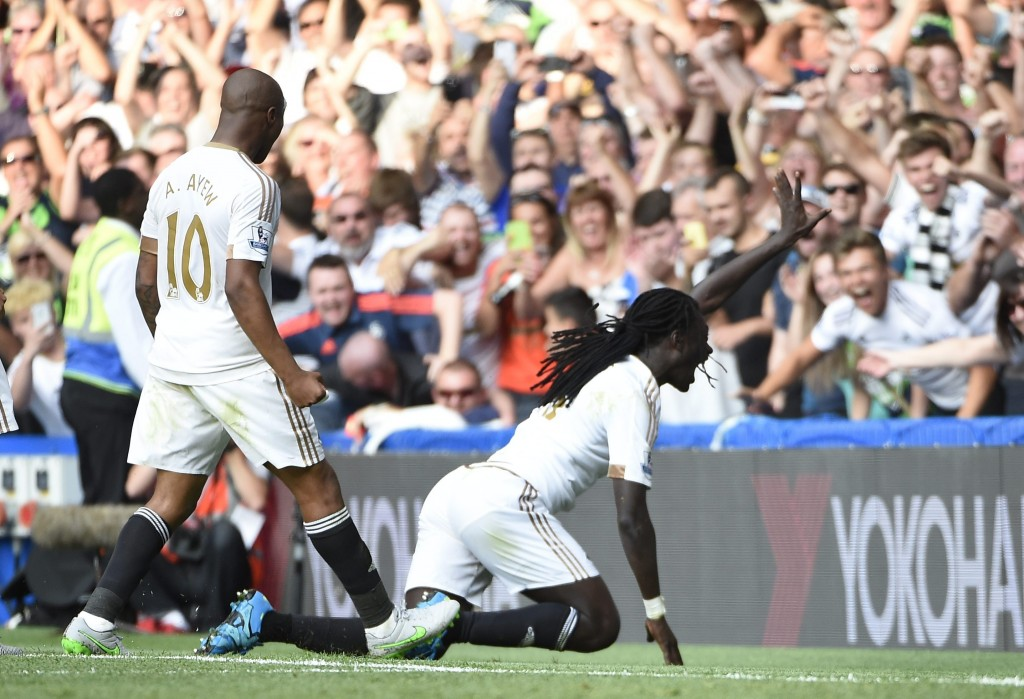 Gomis has bagged four goals in four games.