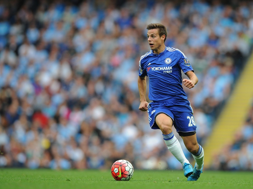 Chelsea's Cesar Azpilicueta in action during the English Premier League soccer match between Manchester City and Chelsea at Etihad Stadium, Manchester, Britain, 16 August 2015. (Photo by Peter Powell/EPA)