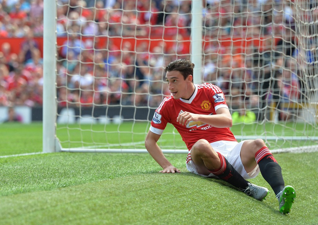 Matteo Darmian seems to have ' fallen down the pecking order' at Manchester United and could prefer a move away to Serie A with Juventus interested in a January deal for the player. (Picture Courtesy - AFP/Getty Images)