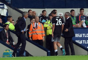 Terry was sent off for pulling back Rondon