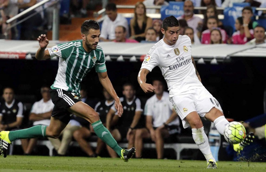 (Video) James Rodriguez Scores Two Stunning Goals As Real Madrid Win 5-0
