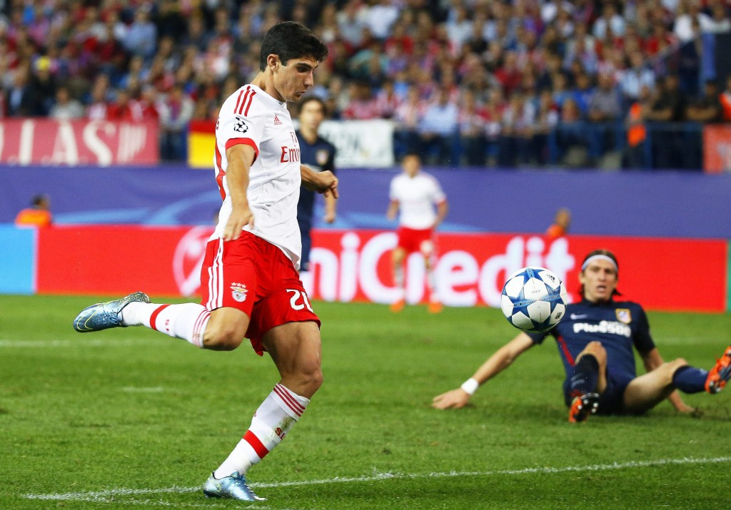 Goncalo Guedes's stock has been on the rise since making his senior debut for Benfica and his impressive form has seen him attract the attention of Arsenal. (Picture Courtesy - AFP/Getty Images)