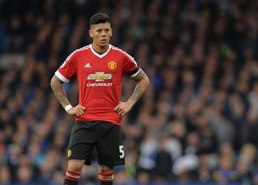"""""""Staying Put"""" - Marcos Rojo is reportedly determined to stay and earn his way into Mourinho's first-team plans at Old Trafford. (Picture Courtesy - AFP/Getty Images)"""