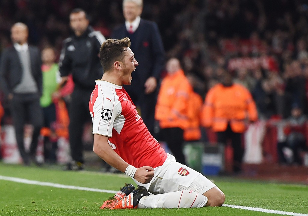 Ozil admitted his side was fortunate to win the match against Southampton. EPA/ANDY RAIN