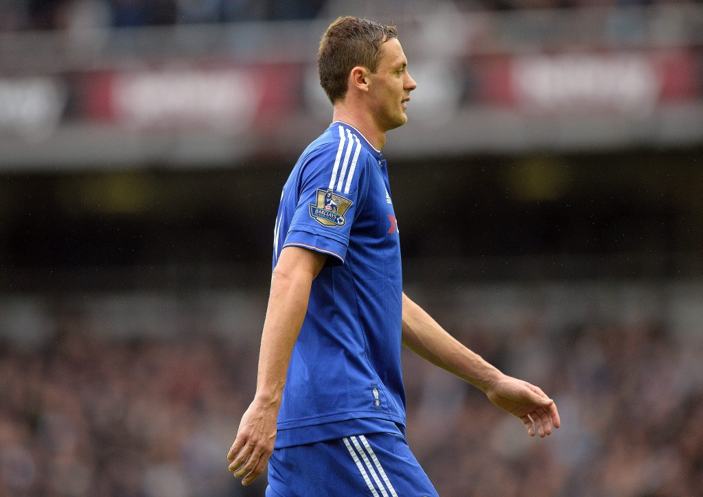Chelsea's Nemanja Matic leaves the pitch after being given a red card during the English Premier League soccer match between West Ham United and Chelsea at The Boleyn Ground in London, Britain, 24 October 2015.