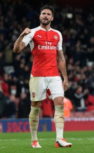 Giroud in fine form for Arsenal