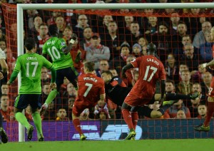 Sadio Mane (No 10 in picture) was lively enough to earn Southampton the draw