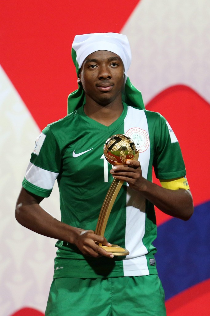 The midfielder won the Best Player trophy at the U-17 FIFA World Cup earlier and is highly rated across both the continents. (Picture Courtesy - AFP/Getty Images)