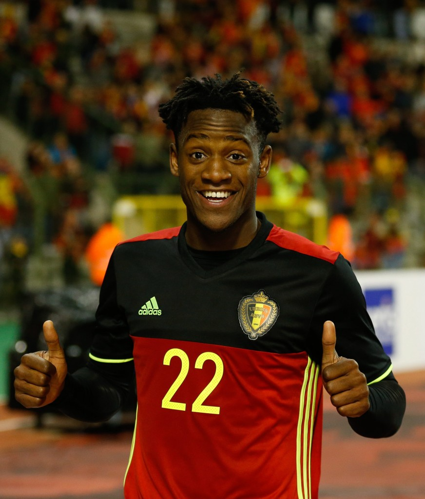 Michy Batshuayi of Belgium reacts after the international friendly soccer match between Belgium and Italy at the King Baudouin stadium in Brussels, Belgium, 13 November 2015. (Photo by LAURENT DUBRULE/EPA)