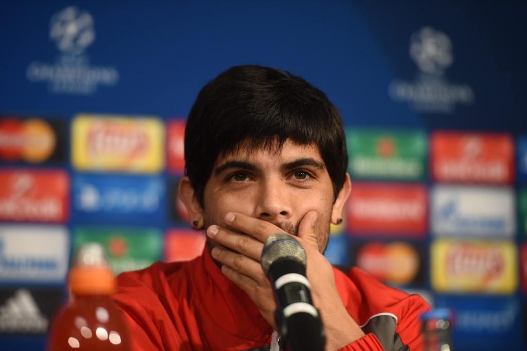 Announcing his departure from Sevilla? (Picture courtesy EPA/JONAS GUETTLER)