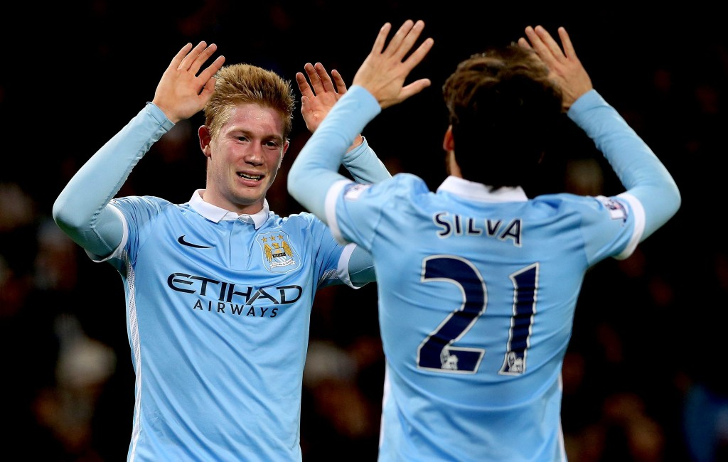 The duo of David Silva and Kevin De Bruyne at the centre of the park is likely to provide the creative outlet to Manchester City. (Picture Courtesy - AFP/Getty Images)