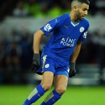 Mahrez in action for Leicester