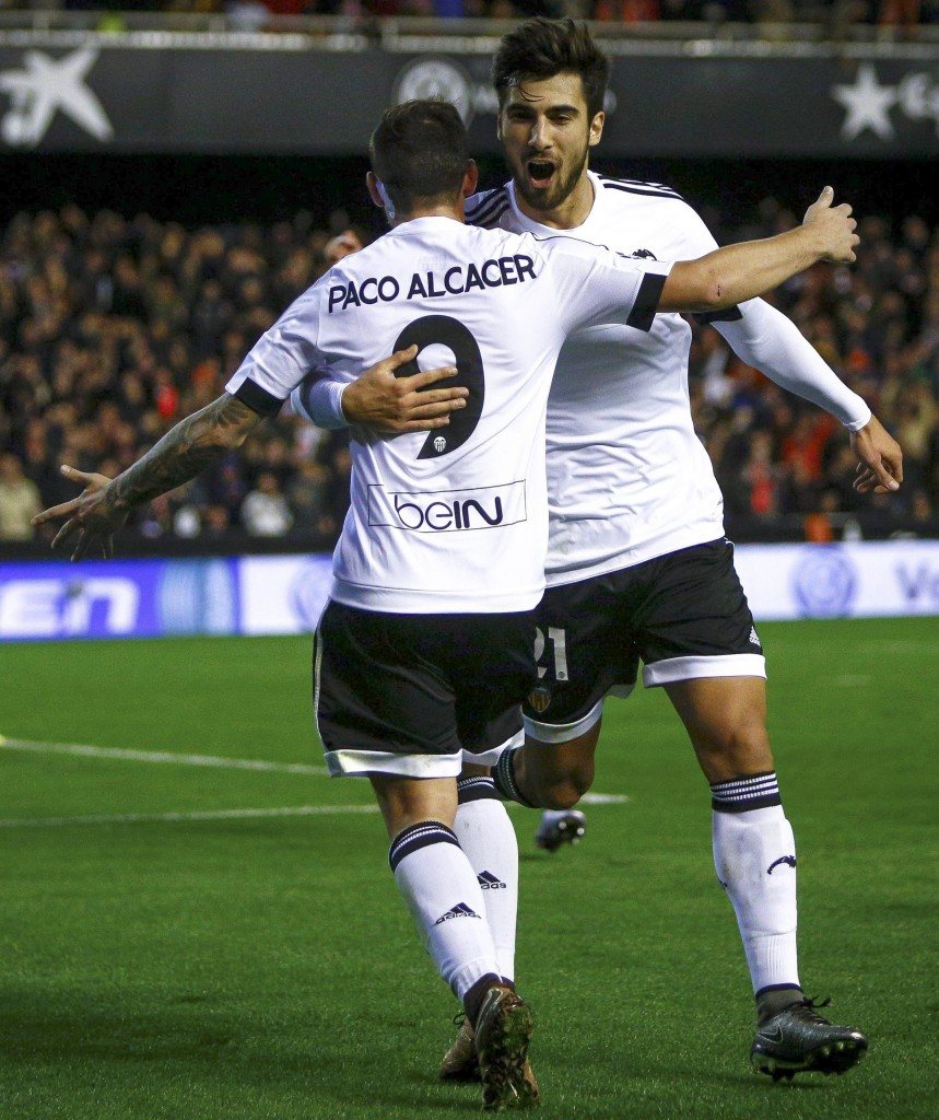 Paco Alcacer has been crucial for Valencia but could see himself playing against the club he grew up at with Barcelona reportedly tabling an offer (Picture Courtesy - AFP/Getty Images)