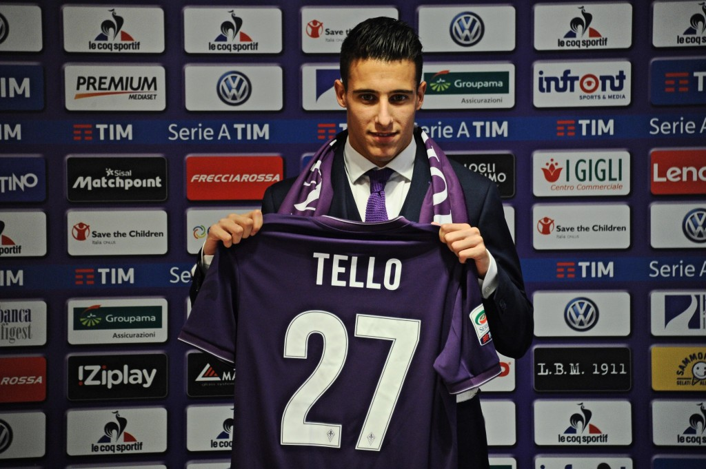 Fiorentina presents Cristian Tello