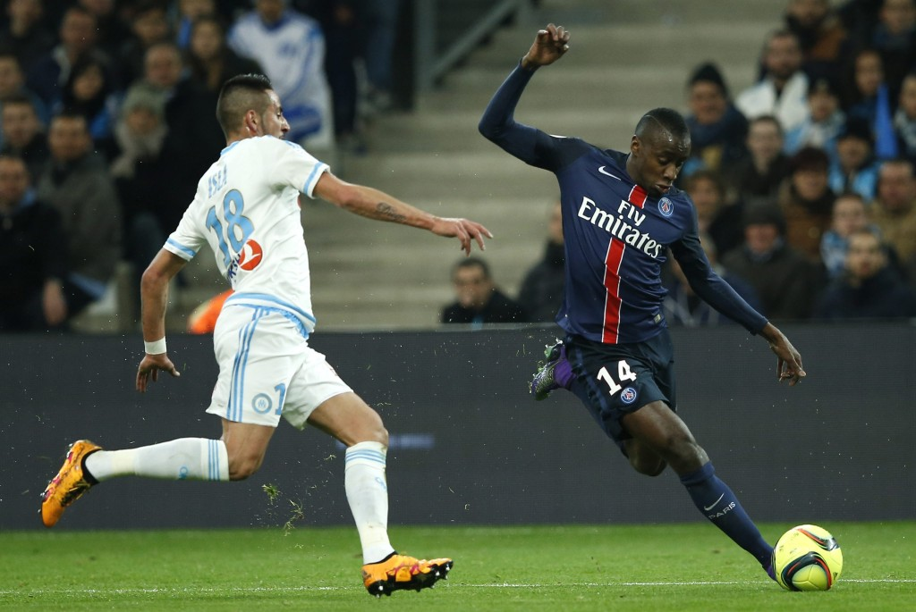 Blaise Matuidi could very well be seen honing his skills in Serie A with L'Equipe reporting that the midfielder is close to completing a move to Juventus. (Picture Courtesy - AFP/Getty Images)