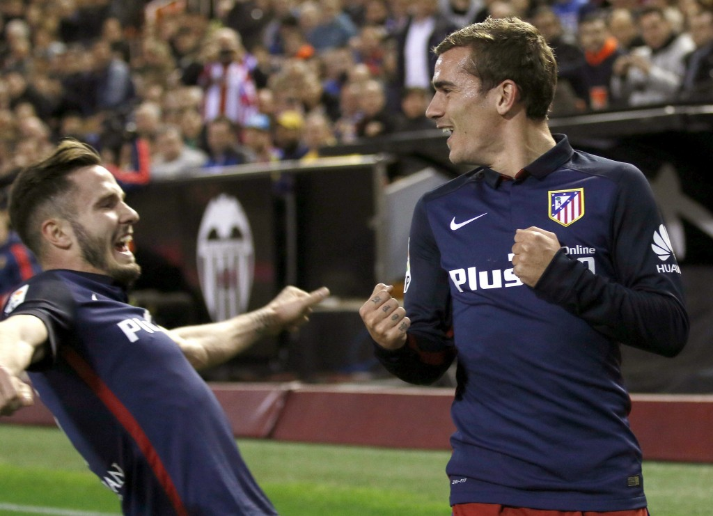 Griezmann looks settled at Atletico Madrid and has said that he shall not look for a move to another club till Diego Simeone stays as the manager. (Picture Courtesy - AFP/Getty Images)