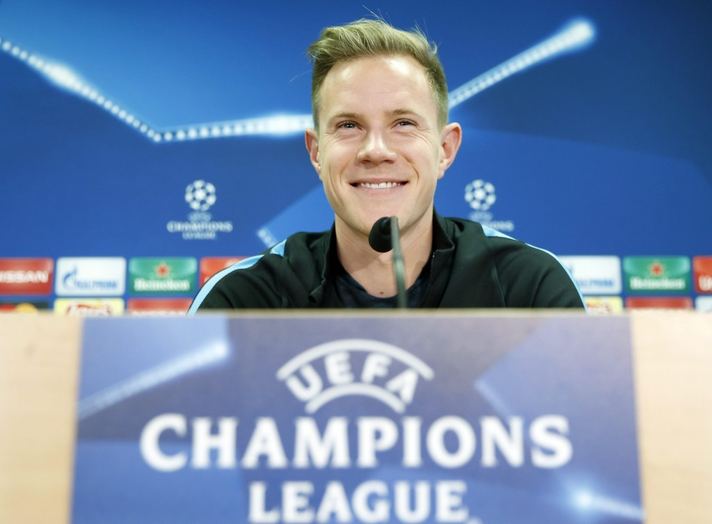 Ter Stegen is now happy at Barcelona after being handed a more expansive role in both domestic and European competitions and is more than willing to sign a contract extension at Barcelona, according to his agent. (Picture Courtesy - AFP/Getty Images)
