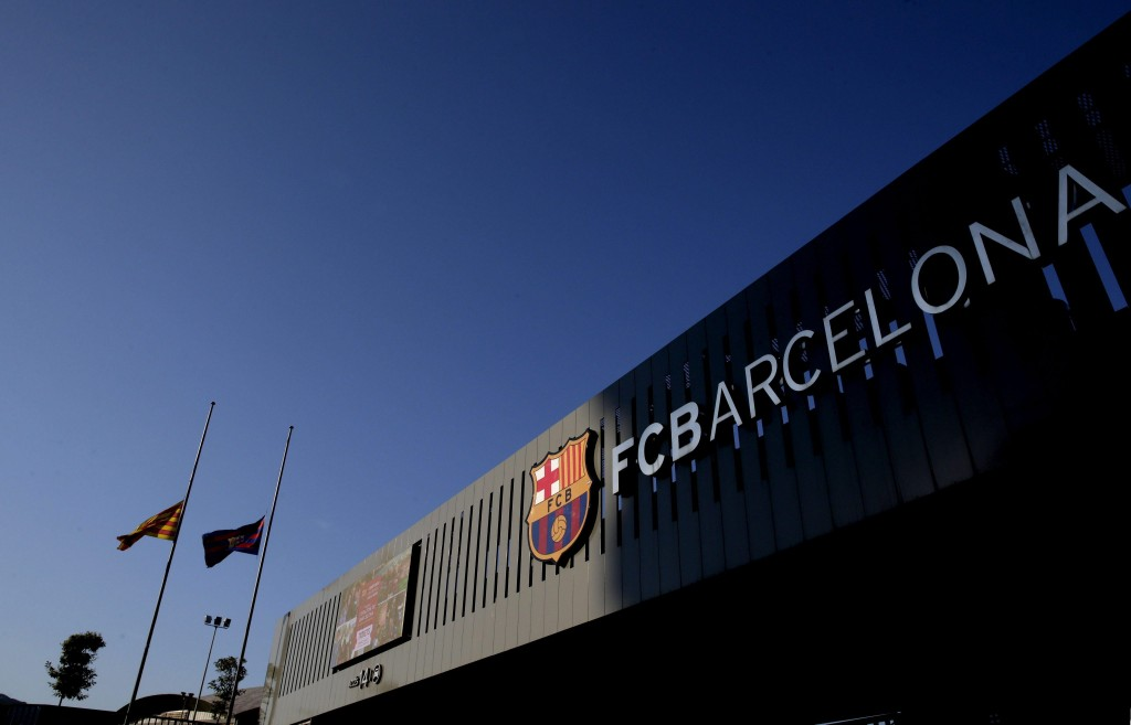Flags at half mast at the Camp Nou