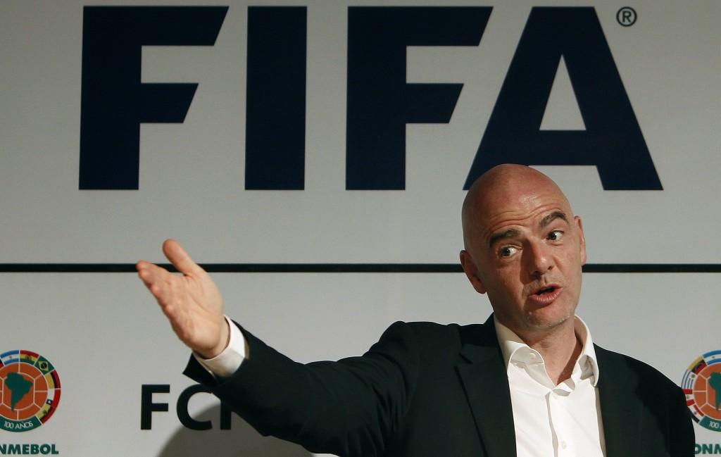 FIFA President Gianni Infantino press conference in Bogota