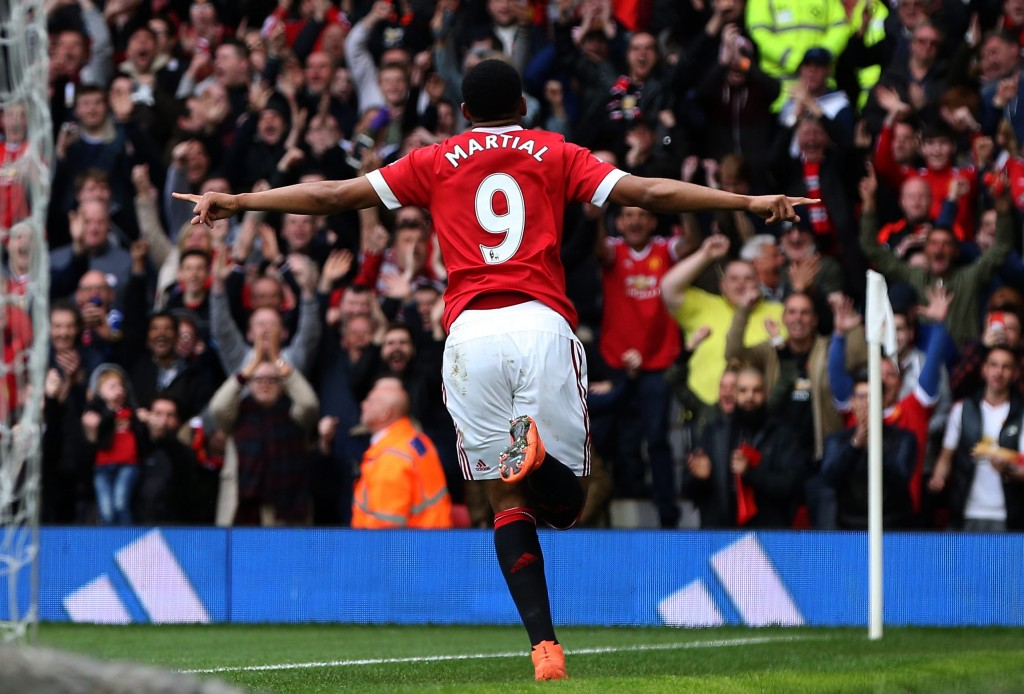 Martial is also likely to benefit in case of both of the formations and tactics suggested by The Hard Tackle. (Picture Courtesy - AFP/Getty Images)