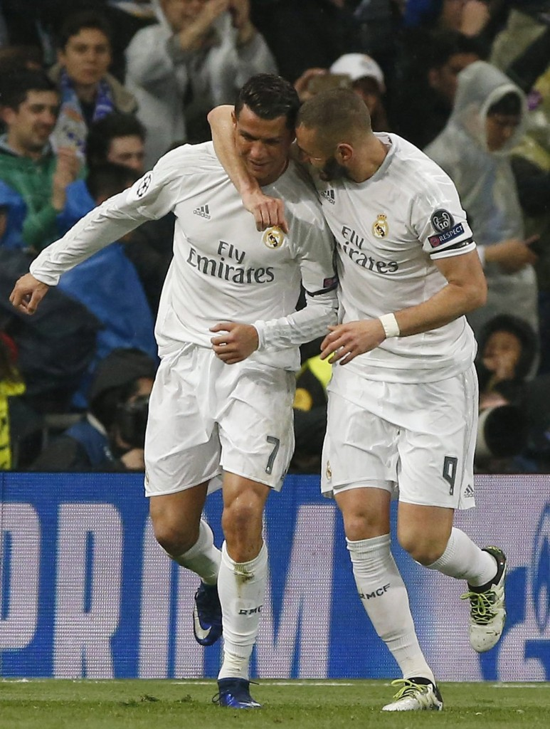 Real Madrid will be without the prolific Cristiano Ronaldo and Karim Benzema.EPA/JJ GUILLEN