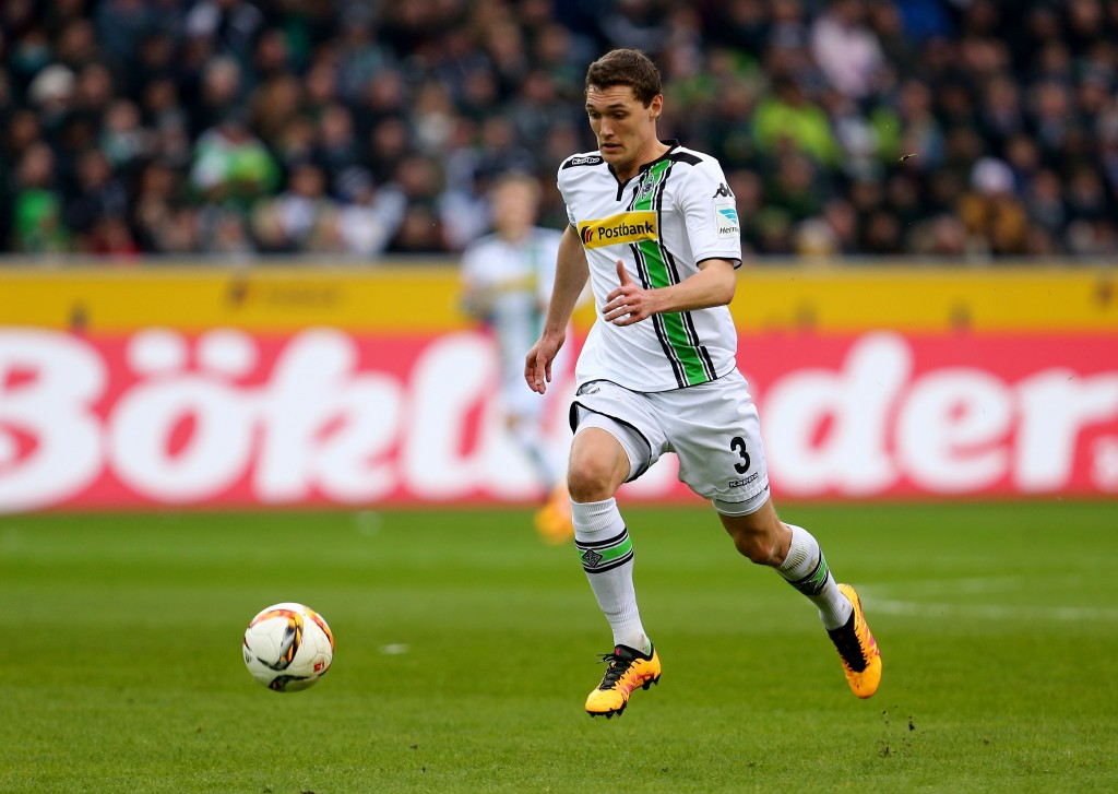 MOENCHENGLADBACH, GERMANY - FEBRUARY 20: Andreas Christensen of Moenchengladbach runs with the ball during the Bundesliga match between Borussia Moenchengladbach and 1. FC Koeln at Borussia-Park on on February 20, 2016 in Moenchengladbach, Germany. (Photo by Martin Rose/Bongarts/Getty Images)