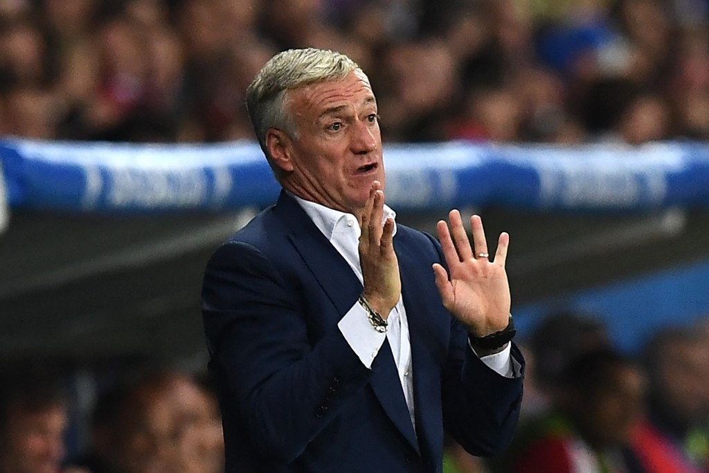 France's coach Didier Deschamps reacts during the Euro 2016 group A football match between Switzerland and France at the Pierre-Mauroy stadium in Lille on June 19, 2016. / AFP / FRANCK FIFE (Photo credit should read FRANCK FIFE/AFP/Getty Images)