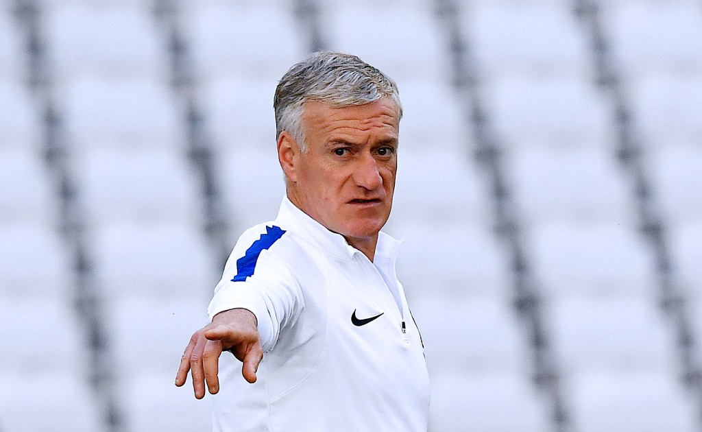 France's coach Didier Deschamps gestures during a training session at the Velodrome stadium in Marseille, on June 14, 2016 on the eve of their Euro 2016 football match against Albania. / AFP / FRANCK FIFE (Photo credit should read FRANCK FIFE/AFP/Getty Images)