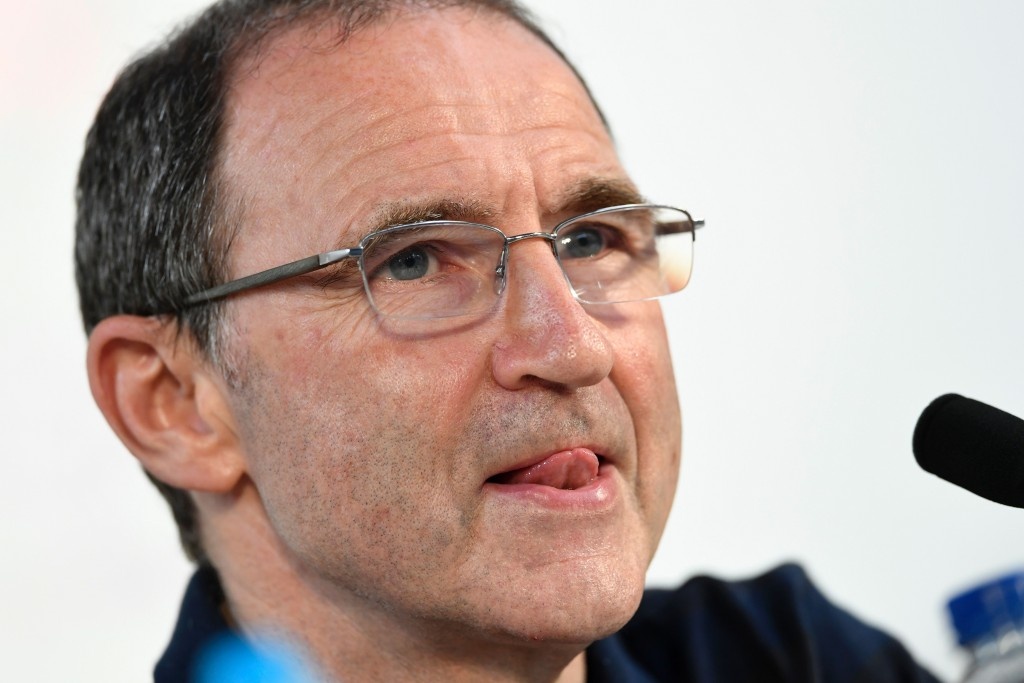 Ireland's coach Martin O'Neill holds a press conference at the Montbauron stadium in Versailles on June 23, 2016 during the Euro 2016 football tournament. / AFP / MIGUEL MEDINA (Photo credit should read MIGUEL MEDINA/AFP/Getty Images)