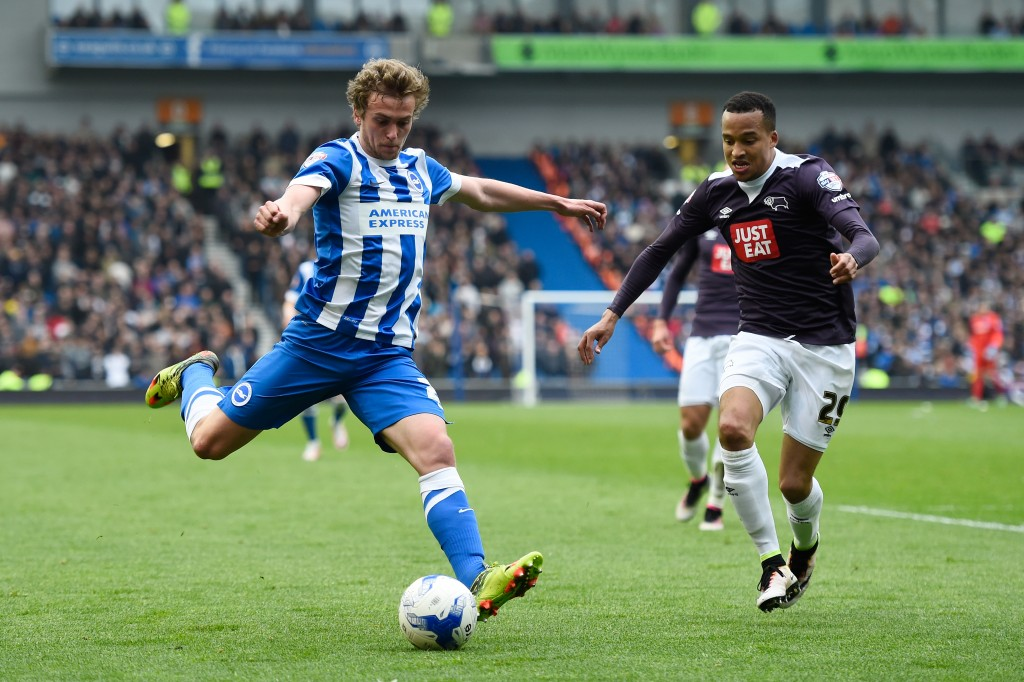 James Wilson spent the last season on loan in the Championship for Brighton and Hove Albion. (Picture Courtesy - AFP/Getty Images)
