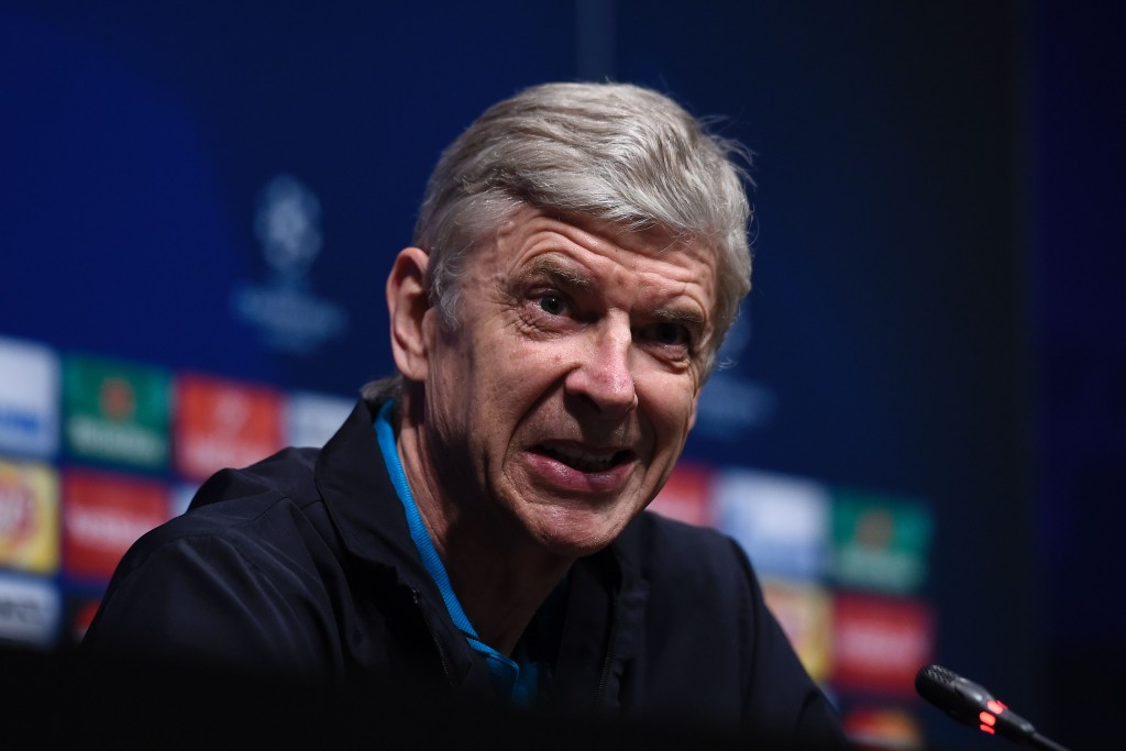 Arsenal's French coach Arsene Wenger gives a press conference at the the Camp Nou stadium in Barcelona on March 15, 2016, on the eve of the Round 16 of the UEFA Champions League football match between FC Barcelona and Arsenal FC. / AFP / JOSEP LAGO (Photo credit should read JOSEP LAGO/AFP/Getty Images)